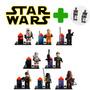 Kit C/ 8 Minifiguras Star Wars + Brinde 2 Bonecos Droid Army