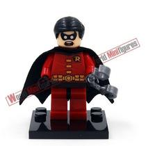 Bloco De Montar Robin Boneco Novo Parceiro Do Batman