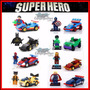 Kit Carros Iron Man Superman Batman Wolverine Marvel Lego