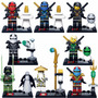 Lego Ninjago Ninjas - 8 Bonecos Pronta Entrega