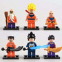 Dragon Ball Kit 6 Bonecos = Lego Dbz Goku Yancha Vegeta