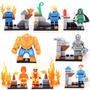Kit 8 Mini Figuras Super Heroes, Bonecos Quarteto Fantástico