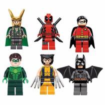 Deadpool Lanterna Verde Batman Robin Wolverine Loki