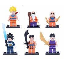 Kit Lego Dragon Ball Z - 6 Bonecos - Coleção Completa