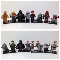 Lego Compatível - Kit 8 Bonecos - Star Wars