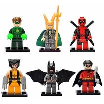 Deadpool Wolverine Batman Lanterna Verde Robin Loki