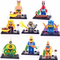 Conjunto Bob Esponja - Mini Figuras - Lego Style