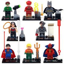 Kit Batman, Super Man, The Flash, Lanterna Verde, Aquaman