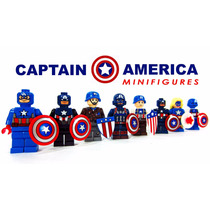 Kit Capitão América Marvel Avengers - Similar Ao Lego