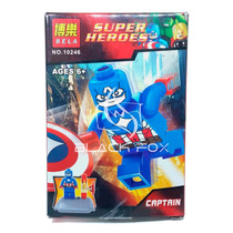 Capitão América Marvel Super Heroes Bela Compatível Com Lego