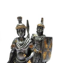 Dupla De Guerreiros Medieval Com Espada E Lança