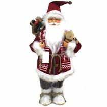 Papai Noel Em Pé Para Decoração De Natal Vermelho E Branco 4