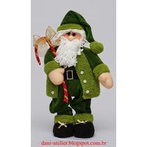 Boneco De Papai Noel Decorativo/pelúcia