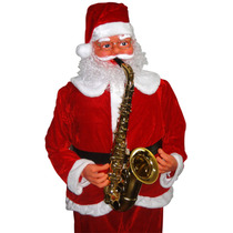Papai Noel Musical Saxofonista Dançante C/ Sensor 1,80 M
