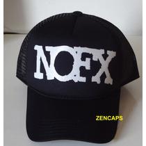 Boné Trucker Cap Tela Nofx Punk Rock