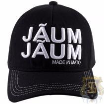 Bone Jaum Jaum Preto Com Escrita Branca 6214 - Jaum Jaum