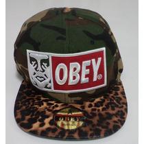 Promoção - Boné Obey Leopardo Camuflado Pronta Entrega