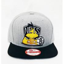 Boné Aba Reta Nba Brooklyn Nets Snapback Angry Birds Aberto