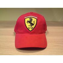 Boné Ferrari Vermelho Ótima Qualidade Tamanho Único Adulto