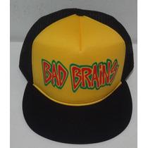 Boné Bad Brains Aba Reta Trucker Cap Hardcore Reggae Jah