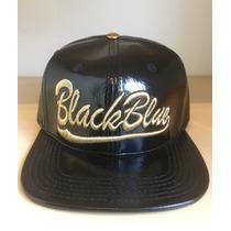 Boné Black Blue Original - Aba Reta, Snapback C/ Fivela