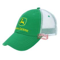 Boné John Deere Importado Verde Com Tela Branca