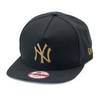 Boné New Era Snapback A-frame New York Yankees Gold Metal