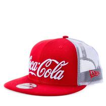 Boné New Era 9fifty Snapback Coca Cola Trucker Vermelho Ccv1
