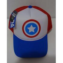 Boné Capitão America Vingadores Marvel Trucker Cap Tela