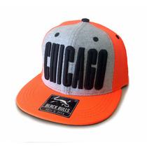 Boné Infantil Black Bulls Chicago Aba Reta Nacional Snapback