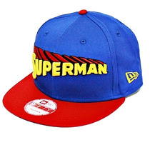 Boné New Era Snapback Superman Title Front - Azul - Ajustáve