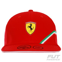 Boné Puma Flatbrim Scuderia Ferrari Infantil - Futfanatics