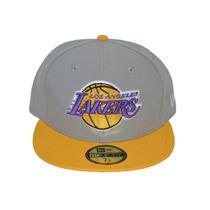 Boné New Era Aba Reta Fechado 5950 Nba Los Angeles Lakers