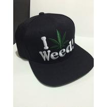 Boné Dgk Snapback Aba Reta Preto / I Love Weed