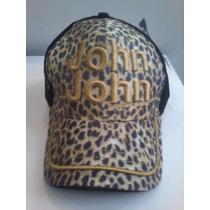 Boné John John * Onçinha * Letras Bordado Amarelo