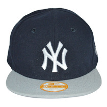 Boné New Era Aba Reta Fechado Mlb New York Yankees Infantil