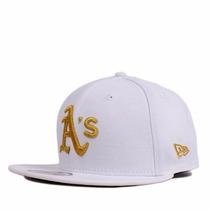 Boné Infantil Oakland Athletics Branco New Snapback Aba Reta