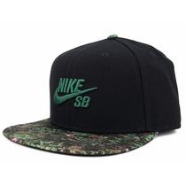 Boné Nike Sb Snapback Seasonal Black Green Forest, Imediato.