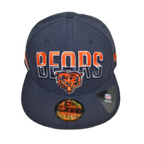 Boné New Era Aba Reta Fechado 5950 Nfl Chicago Bears
