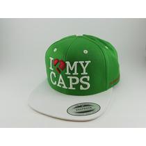 Boné True Heart Flexfit Aba Reta Snapback I Love My Caps