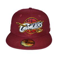 Boné New Era Aba Reta Fechado 5950 Nba Cleveland Cavaliers
