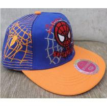 Boné Homem Aranha Infantil Aba Reta Spiderman De 3 A 10 Anos