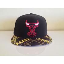 Boné De Aba Reta Fechado Nba Chicago Bulls Original