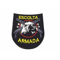 Patch / Bordado C/ Velcro - Escolta Armada - Águia