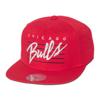 Boné Mitchell And Ness Snapback Chicago Bulls Script