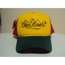 Boné Reggae One Love Bob Marley Jamaica Trucker Frete Gratis
