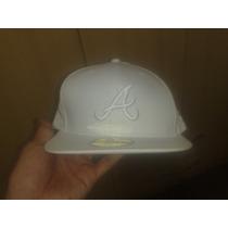 Boné New Era Atlanta Braves All White Snapback Lançamento