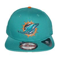 Boné New Era Aba Reta Snapback Aberto Nfl Miami Dolphins