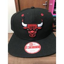 Boné Snapback New Era Chicago Bulls Preto