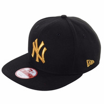 Boné Aba Reta Ny Yankees Black/gold Original Fit Snapback